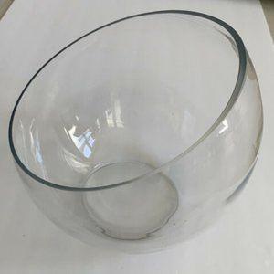 West Elm large clear glass terrarium bowl